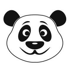 panda icon simple style vector image