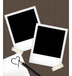 photo frames with notepad vector image vector image