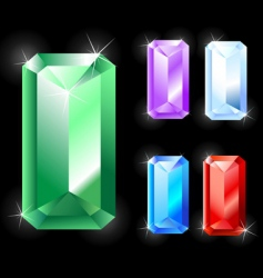 rectangular jewels vector image