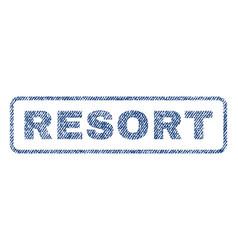 Resort textile stamp vector