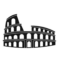 Roman colosseum icon simple style vector