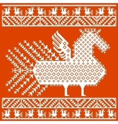 Russian and ukrainian folk embroidery patterns vector