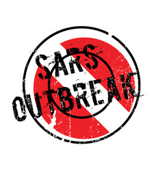 Sars outbreak rubber stamp vector
