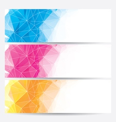 Set of abstract geometric banners vector