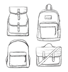 Set of different types bag for travel vector image