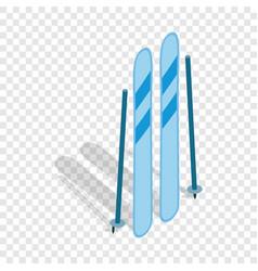 ski equipment isometric icon vector image vector image