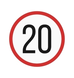 Speed limit 20 vector