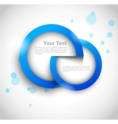 Two circle tags vector image