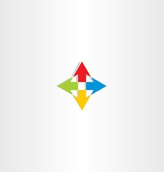 up down left right arrow icon sign vector image