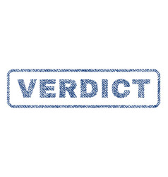 Verdict textile stamp vector