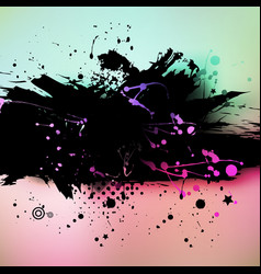 Watercolor grunge colorful banner background vector