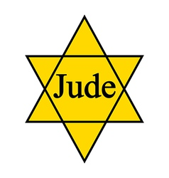 Yellow star jude icon on white background vector