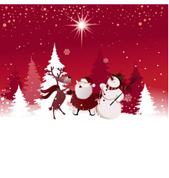 Funny Christmas background vector image