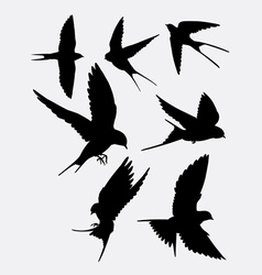 Swallow bird animal silhouette vector