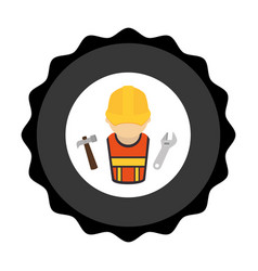 construction worker avatar icon vector image