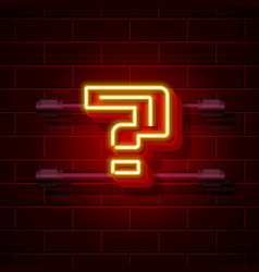 neon question symbol city signboard vector image