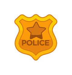 Police officer button vector