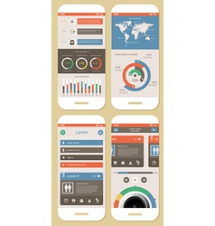 Flat Elements of Infographics vector image