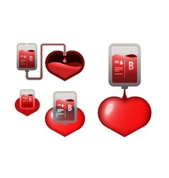Donar blood icons vector