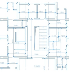 White architecture plan vector