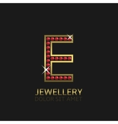 Golden letter e vector