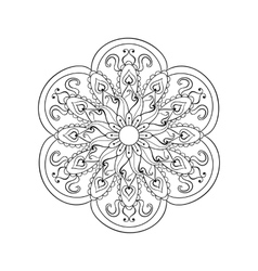 Zentangle stylized arabic indian mandala hand vector