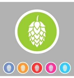 Hop beer sign icon flat web symbol logo label vector