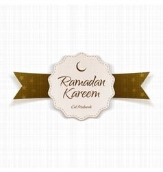 Ramadan kareem eid mubarak festive emblem vector