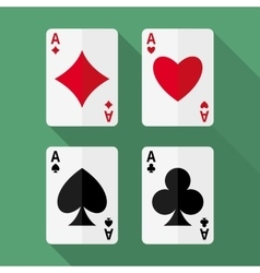 Four aces playing cards vector