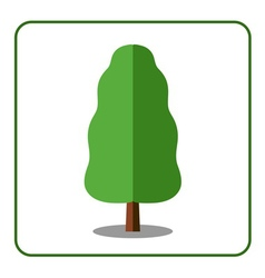 Oak poplar tree icon vector