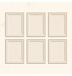 Set of brown frames vector image