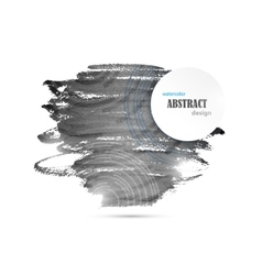 Abstract Watercolor Black And White Background vector image vector image