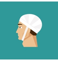 Bandaged head vector