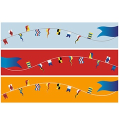 Banner nautical flags vector