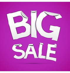 Big Sale Sticker - Label on Violet Background vector image vector image