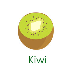 Cartoon natural kiwi isolated on white background vector