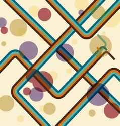 Colorful line adstract retro background vector
