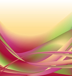 Colorful waves isolated abstract background vector