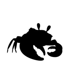 crab in cool pose silhouette vector image