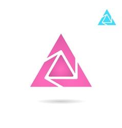 Delta letter logo vector image