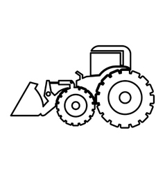 Excavator heavy machinery pictogram icon image vector
