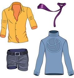 man clothes vector image vector image