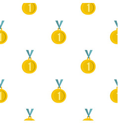 Medal for first place pattern flat vector