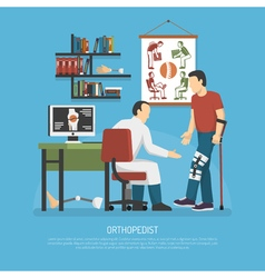 Orthopedics design concept vector
