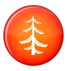 Pine icon flat style vector