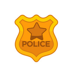 Police officer button vector