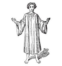 Roman catholic church vintage engraving vector