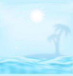Sea and the sun vector