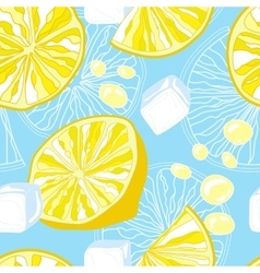 Seamless texture of lemonade vector image vector image