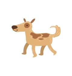 Shepherd dog walking vector
